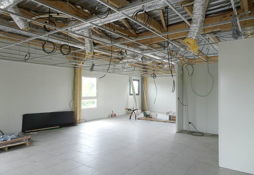 cablage plafond et vmc double flux