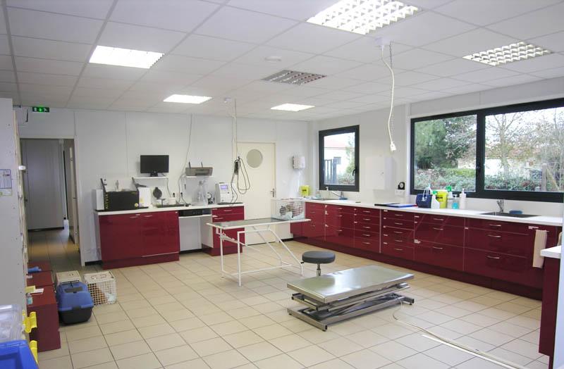 aménagement salle de préparation vétérinaire construction clinique vétérinaire design